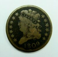 1809 CLASSIC HEAD HALF CENT  TYPE COIN