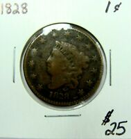 1828 CLASSIC HEAD LARGE CENT  TYPE COIN