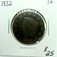 1832 CLASSIC HEAD LARGE CENT  TYPE COIN