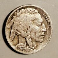 1924-D BUFFALO NICKEL IN  GOOD CONDITION AND AT A BARGAIN PRICE