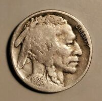 1926-D BUFFALO NICKEL WITH CLEAR DATE AND HALF A HORN & BARGAIN PRICED