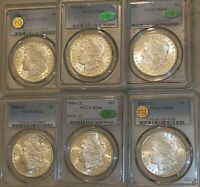 [LOT OF 6]ALL PCGS MINT STATE 661880-CC1881-CC1882-CC1883-CC1884-CC1885-CC