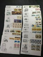 US FDC FIRST DAY LOT OF 34 1970 79  ALL DIFFERENT CACHET ALL