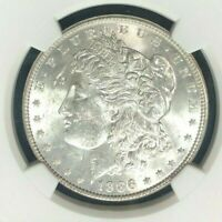1886 VAM 1C NGC MINT STATE 62 MORGAN SILVER DOLLAR - GENE L. HENRY LEGACY COLLECTION