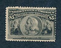 DRBOBSTAMPS US SCOTT 245 MINT HR NO GUM SOUND STAMP