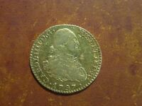1797 SPAIN MADRID 1 ESCUDO CHARLES IIII GOLD COLONIAL COIN