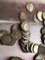 GROUP OF PRE 1920  THREE PENNY  SILVER COINAGE   162 GRAMS