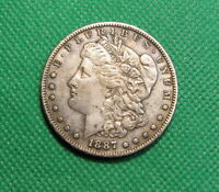 1887-S MORGAN SILVER DOLLAR -  FINE - ORIGINAL -    RM-1807