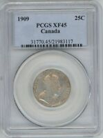 CANADA 1909 25 CENTS PCGS XF45