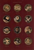 SET OF 36 BRONZE PROOF AMERICA IN SPACE MEDALS   FRANKLIN MINT