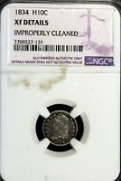 1834   NGC XF DETAILS CAPPED BUST HALF DIME    B16846