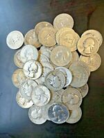 ROLL OF SILVER WASHINGTON QUARTERS    40 COINS    $10 FACE V
