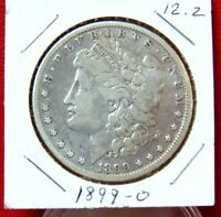 1899-O MORGAN DOLLAR. FINE. 90 SILVER. ADDITIONAL COINS SHIP FREE.