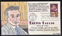 SCOTT 2250 ENRICO CARUSO BEN KRAFT HAND PAINTED FIRST DAY CO