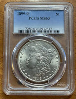 1899 O MORGAN SILVER DOLLAR PCGS MINT STATE 63