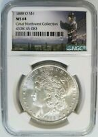 1888 O MORGAN SILVER DOLLAR NGC MINT STATE 64 GREAT NORTHWEST HENRY LEGACY COLLECTION