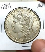 US 1886 $1 MORGAN SILVER DOLLAR US COIN AU ALMOST UNCIRCULATED13