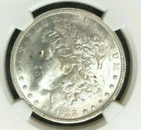 1888-O VAM 1A NGC MINT STATE 63 MORGAN SILVER DOLLAR - GENE L. HENRY LEGACY COLLECTION