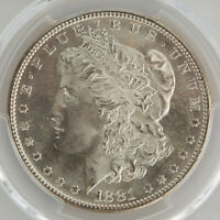 1881-S  MORGAN SILVER DOLLAR - PCGS MINT STATE 65  UNBELIEVABLE LUSTER  874