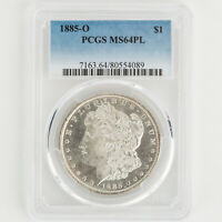 1885 O MORGAN DOLLAR PCGS MINT STATE 64PL BLAST WHITE PROOF/CAMEO LIKE PREMIUM 089