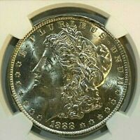 1888-O $1 MORGAN SILVER DOLLAR NGC MINT STATE 63   INCREDIBLE LUSTER