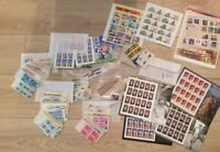 US STAMPS MIXED LOT SHEETS BLOCKS SINGLE $85.95 FACE VALUE P