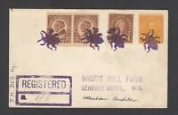 US REGISTERED COVER 1920 BUG KY TO GENESEE DEPOT WIS.