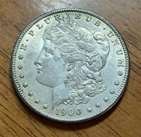 1900-P UNC MORGAN SILVER DOLLAR SOME TONE