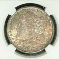 1902-O MORGAN SILVER DOLLAR  NGC MINT STATE 63 BEAUTIFUL TONED COIN REF94-053
