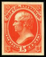 O21P4 PROOF INTERIOR 15C DANIEL WEBSTER ON CARD MH SEE PHOTO