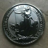 2020 GREAT BRITAIN BRITANNIA 1 OZ SILVER ROUND