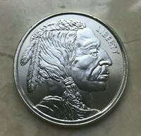 BUFFALO NICKEL DESIGN 1 OZ SILVER ROUND .999 SILVER