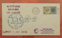 1962 PILOT ROBERT WHITE SIGNED X 15 ALTITUDE RECORD 58 MILES