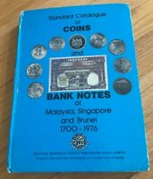 COINS AND BANK NOTES OF MALAYSIA SINGAPORE AND BRUNEI 1700 1976