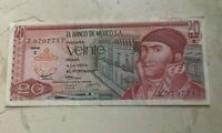 1973 MEXICO 20 PESOS   WORLD CURRENCY BANK NOTE   CIRCULATED