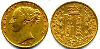 VERY  VICTORIA GOLD SOVEREIGN 1861 ROMAN I IN MARSH R2  > PR