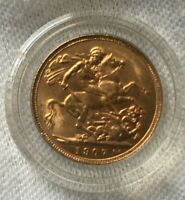 GREAT BRITAIN GOLD SOVEREIGN  .2354 OZ GOLD  1907 KING EDWAR