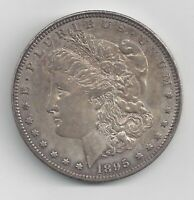 1895-O MORGAN SILVER DOLLAR, EXTRA FINE ,  DATE-SCRATCHES ON REVERSE EAGLE BREAST