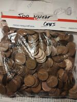 WHEAT BACK PENNIES CENTS FREE SHIP -- 10 ROLLS 500 COINS 1940S & 1950S LINCOLN
