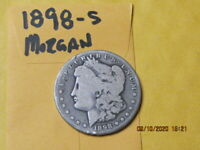 1898 S  - 90 SILVER  MORGAN  DOLLAR UNGRADED U S SHIPPING ONLY