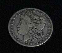 1884 MORGAN SILVER DOLLAR ESTATE COIN 90 SILVER CIRCULATED J24