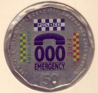 2011 50CT  COLOURED  COIN     EMERGENCY 000    NO   RESERVE