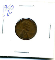 1950 D WHEAT CENT 1 CENT KEY DATE US CIRCULATED ONE LINCOLN  COIN U.S 3123