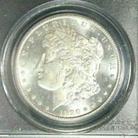 1890-CC MORGAN SILVER DOLLAR - PCGS MINT STATE 63 BEAUTIFUL COIN REF9524