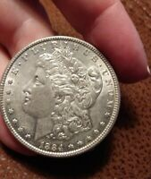 1884 P MORGAN SILVER DOLLAR-AU-BRILLIANT