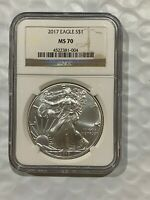 2017 AMERICAN SILVER EAGLE - NGC MS 70 - BROWN LABEL 004