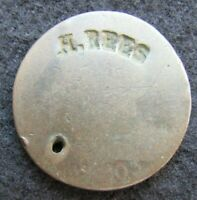 1803  DRAPED BUST     LARGE CENT    COUNTERSTAMPED     { H.R