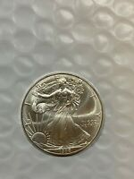 1986 AMERICAN SILVER EAGLE COIN    UNCIRCULATED GEM   86C