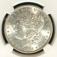 1885 VAM 1B NGC MINT STATE 62 MORGAN SILVER DOLLARGENE L HENRY LEGACY COLLECTION 011
