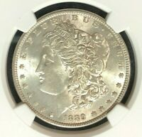 1889 VAM 19A NGC MINT STATE 62 MORGAN SILVER DOLLARGENE L HENRY LEGACY COLLECTION 073